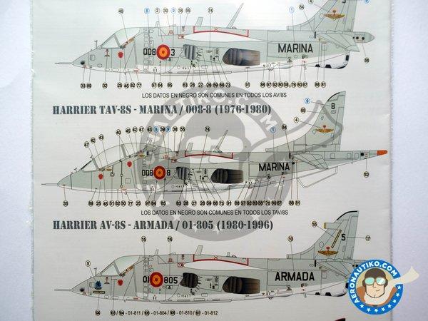 "Image 5: McDonnell Douglas AV-8S, TAV-8S ""MATADOR"" | Marking / livery in 1/48 scale manufactured by Series Españolas (ref.SE148)"