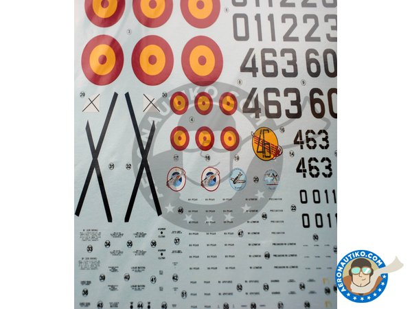 Image 4: North American T-6 Texan D/G | Marking / livery in 1/48 scale manufactured by Series Españolas (ref. SE1648)