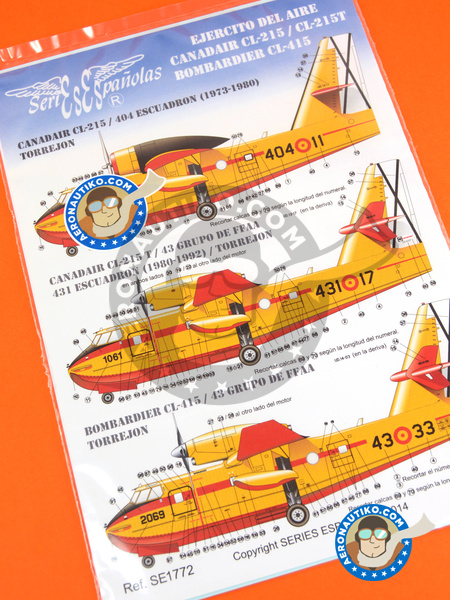 Canadair CL-415 | Marking / livery in 1/72 scale manufactured by Series Españolas (ref. SE1772) image