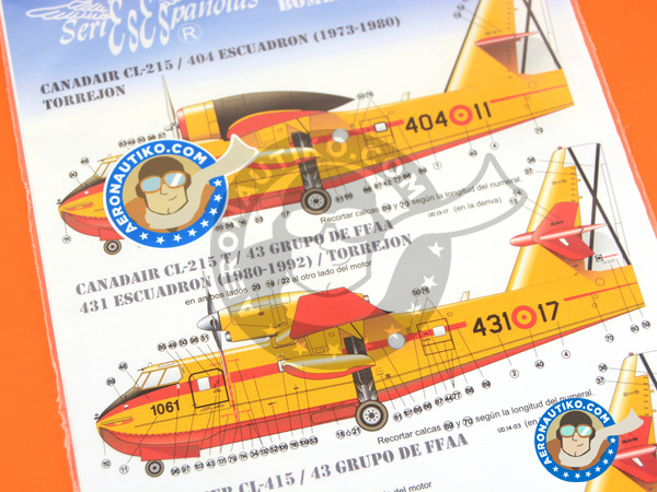 Image 5: Canadair CL-415 | Marking / livery in 1/72 scale manufactured by Series Españolas (ref. SE1772)