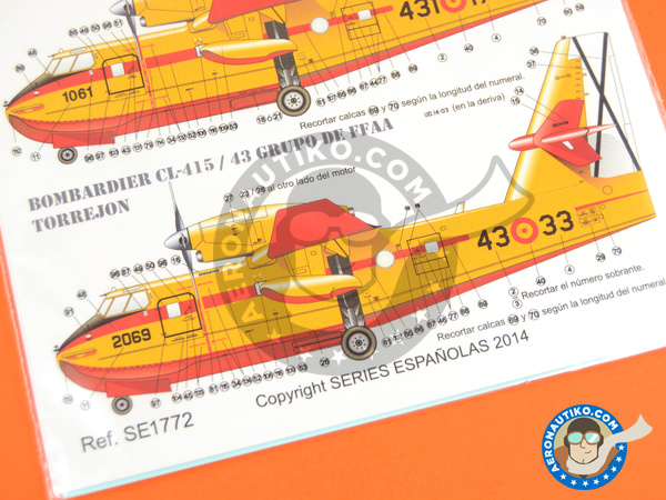 Image 6: Canadair CL-415 | Marking / livery in 1/72 scale manufactured by Series Españolas (ref. SE1772)