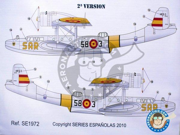 Image 3: Dornier Do-24T SAR 58 Escruadrilla de Salvamento Pollensa | Marking / livery in 1/72 scale manufactured by Series Españolas (ref.SE1972)