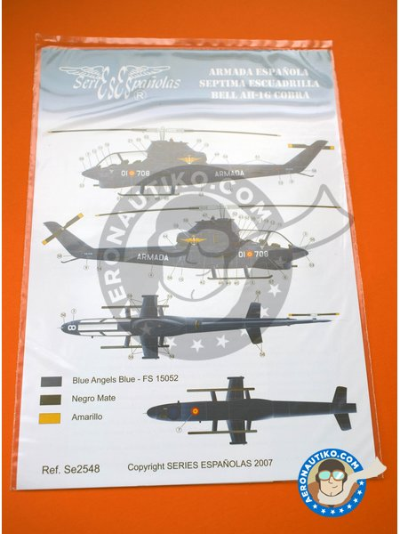 Bell AH-1G COBRA G | Marking / livery in 1/48 scale manufactured by Series Españolas (ref.SE2548) image