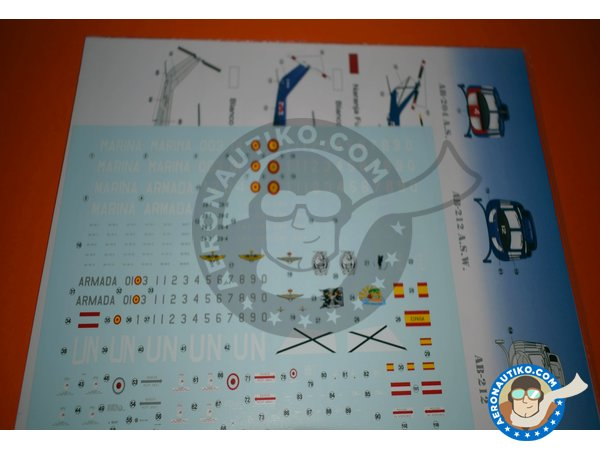 Image 1: Bell UH-1 Iroquois B/N | Marking / livery in 1/72 scale manufactured by Series Españolas (ref.SE2772)