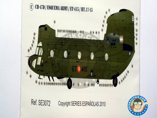 Image 5: Boeing CH-47 Chinook C/D | Marking / livery in 1/72 scale manufactured by Series Españolas (ref. SE3072)