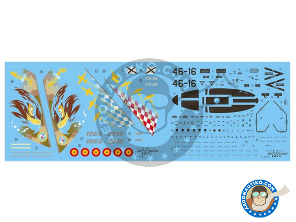 Image 2: McDonnell Douglas F/A-18 Hornet A | Marking / livery in 1/48 scale manufactured by Series Españolas (ref. SE3448)