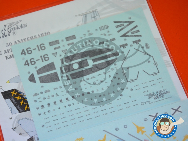 Image 3: McDonnell Douglas F/A-18 Hornet A | Marking / livery in 1/48 scale manufactured by Series Españolas (ref. SE3448)