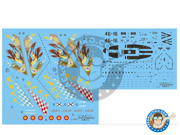 Image 2: McDonnell Douglas F/A-18 Hornet A | Marking / livery in 1/72 scale manufactured by Series Españolas (ref.SE3472)