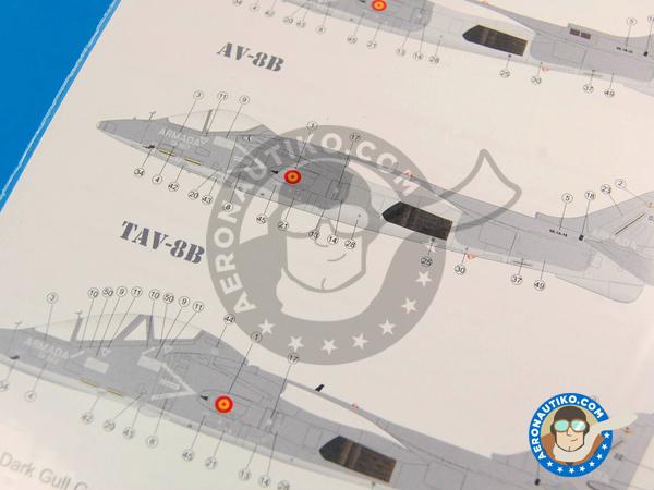 Image 3: McDonnell Douglas AV-8B Harrier AV-8B PLUS, AV-8B, TAV-8B | Marking / livery in 1/48 scale manufactured by Series Españolas (ref.SE348)