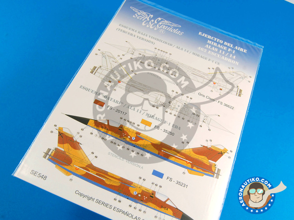 Image 1: Dassault Mirage F1 | Marking / livery in 1/72 scale manufactured by Series Españolas (ref.SE572)