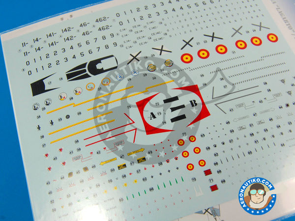 Image 3: Dassault Mirage F1 | Marking / livery in 1/72 scale manufactured by Series Españolas (ref. SE572)