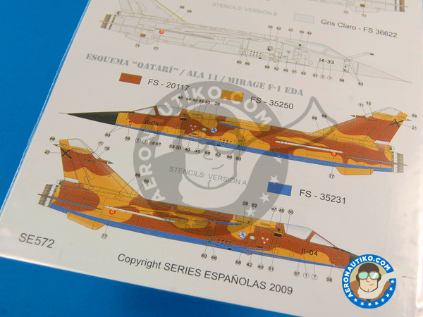 Image 6: Dassault Mirage F1 | Marking / livery in 1/72 scale manufactured by Series Españolas (ref.SE572)