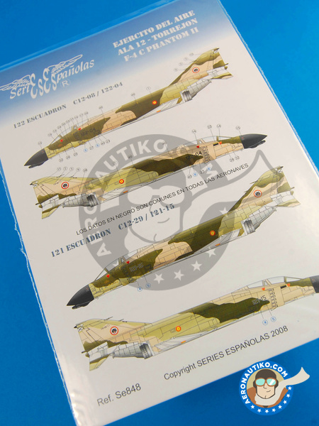 McDonnell Douglas F-4 Phantom II C | Marking / livery in 1/48 scale manufactured by Series Españolas (ref. SE848) image