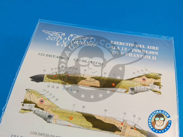 Image 2: McDonnell Douglas F-4 Phantom II C | Marking / livery in 1/48 scale manufactured by Series Españolas (ref.SE848)