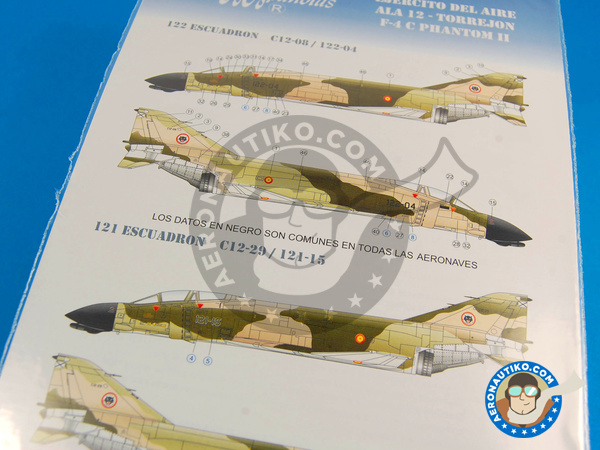 Image 3: McDonnell Douglas F-4 Phantom II C | Marking / livery in 1/48 scale manufactured by Series Españolas (ref.SE848)
