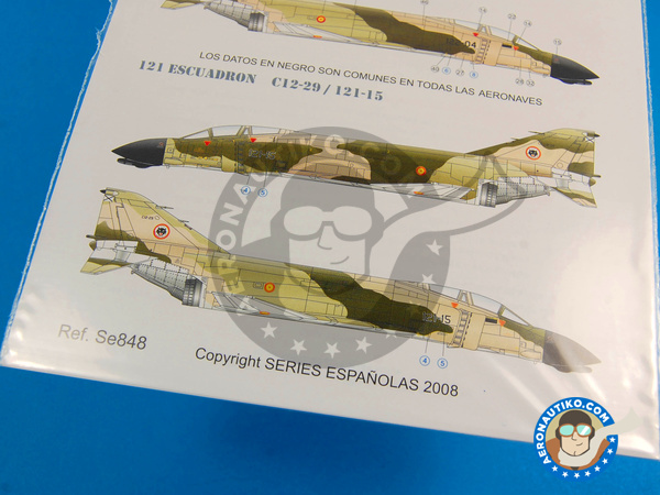 Image 4: McDonnell Douglas F-4 Phantom II C | Marking / livery in 1/48 scale manufactured by Series Españolas (ref.SE848)
