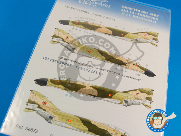 Image 1: McDonnell Douglas F-4 Phantom II C | Marking / livery in 1/72 scale manufactured by Series Españolas (ref.SE872)