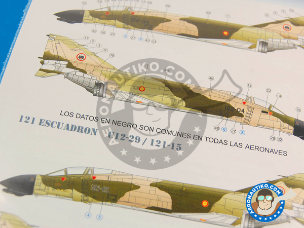 Image 3: McDonnell Douglas F-4 Phantom II C | Marking / livery in 1/72 scale manufactured by Series Españolas (ref.SE872)