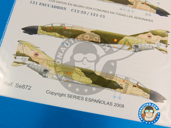 Image 4: McDonnell Douglas F-4 Phantom II C | Marking / livery in 1/72 scale manufactured by Series Españolas (ref.SE872)