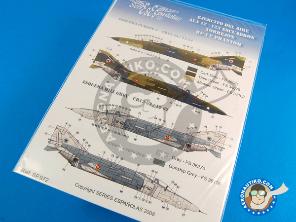 Image 1: McDonnell Douglas F-4 Phantom II C | Marking / livery in 1/72 scale manufactured by Series Españolas (ref. SE972)