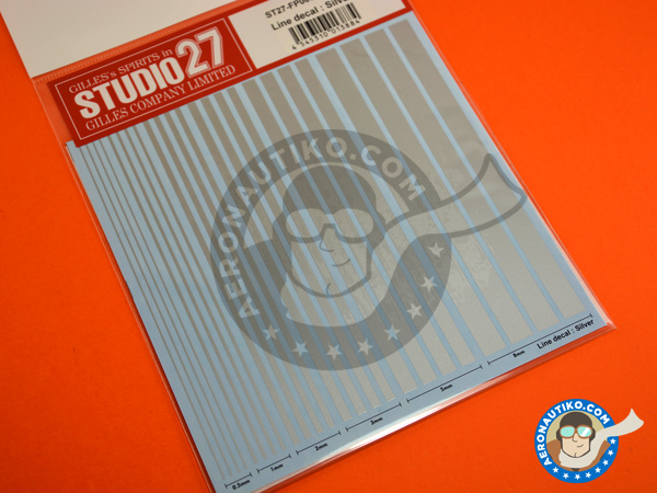 Image 2: Silver lines | Decals manufactured by Studio27 (ref.ST27-FP0030)