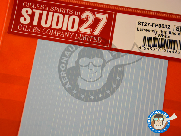 Image 2: Extremely thin line decal white | Decals manufactured by Studio27 (ref. ST27-FP0032)