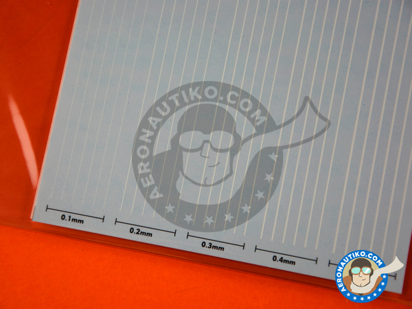 Image 3: Extremely thin line decal white | Decals manufactured by Studio27 (ref. ST27-FP0032)
