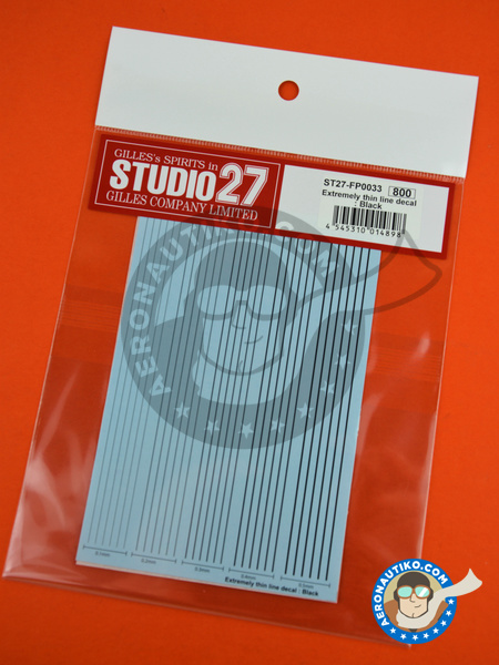 Extremely thin line decal black | Decals manufactured by Studio27 (ref.ST27-FP0033) image