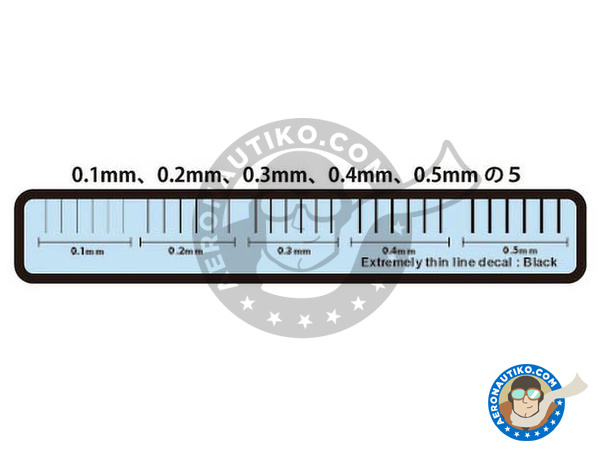Image 2: Extremely thin line decal black | Decals manufactured by Studio27 (ref.ST27-FP0033)