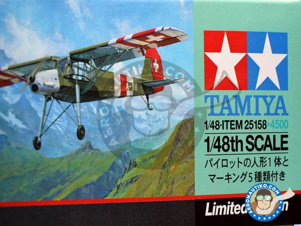 Image 4: Fieseler Fi 156C Storch | Airplane kit in 1/48 scale manufactured by Tamiya (ref. 25158)