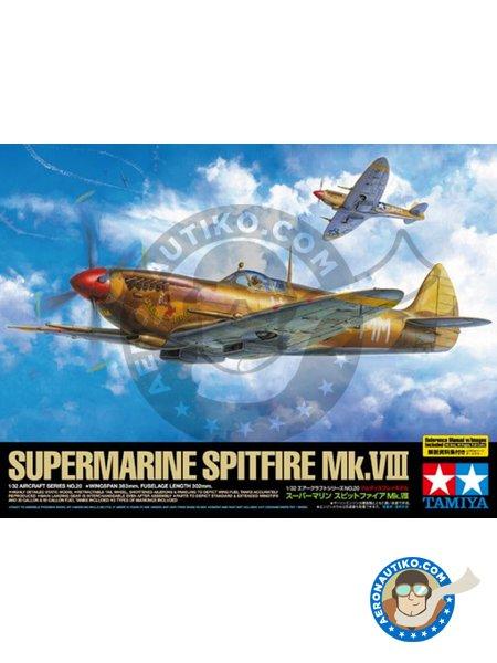 Supermarine Spitfire Mk.VIII | Airplane kit in 1/32 scale manufactured by Tamiya (ref.60320) image