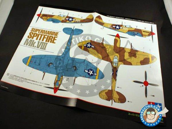 Image 12: Supermarine Spitfire Mk.VIII | Airplane kit in 1/32 scale manufactured by Tamiya (ref.60320)