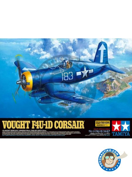 Vought F4U-1D Corsair | Airplane kit in 1/32 scale manufactured by Tamiya (ref.60327) image