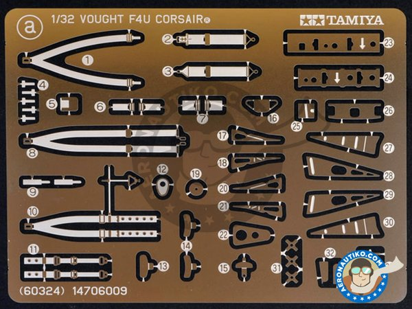 Image 9: Vought F4U-1D Corsair | Airplane kit in 1/32 scale manufactured by Tamiya (ref.60327)