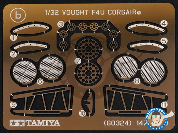 Image 10: Vought F4U-1D Corsair | Airplane kit in 1/32 scale manufactured by Tamiya (ref.60327)