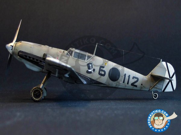 Image 1: Messerschmitt Bf109 E-3 | Airplane kit in 1/72 scale manufactured by Tamiya (ref. 60750)