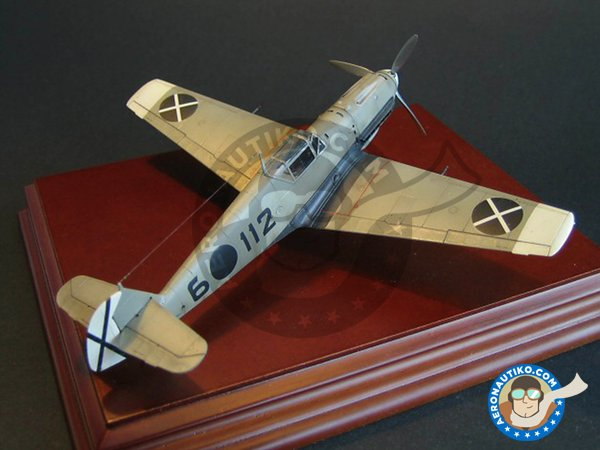 Image 2: Messerschmitt Bf109 E-3 | Airplane kit in 1/72 scale manufactured by Tamiya (ref. 60750)