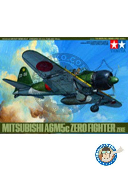 Mitsubishi A6M5c Zero ( Zeke ) | Airplane kit in 1/48 scale manufactured by Tamiya (ref.61027) image