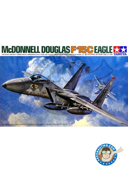 McDonnell Douglas F-15 Eagle C | Airplane kit in 1/48 scale manufactured by Tamiya (ref. 61029) image