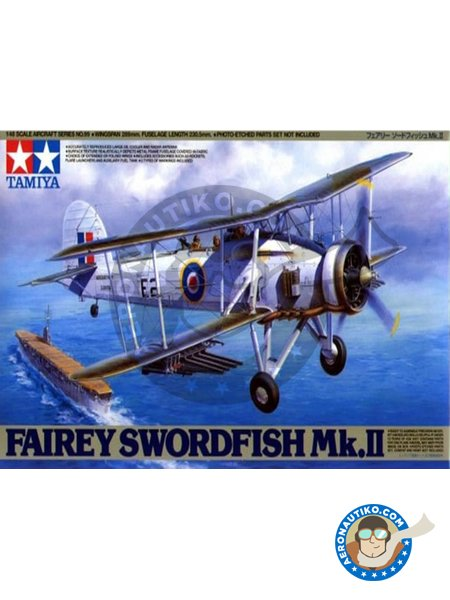 Fairey Swordfish Mk.II | Model kit in 1/48 scale manufactured by Tamiya (ref. 61099) image