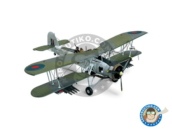 Image 2: Fairey Swordfish Mk.II | Model kit in 1/48 scale manufactured by Tamiya (ref. 61099)