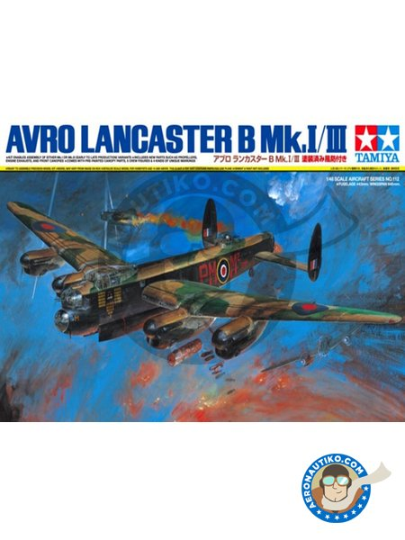 Avro Lancaster B Mk.I/III | Airplane kit in 1/48 scale manufactured by Tamiya (ref. 61112) image