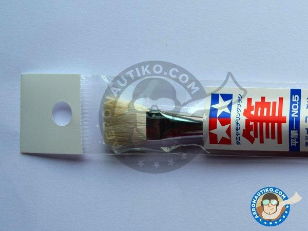 Image 1: Flat Brush No.5 | Brush manufactured by Tamiya (ref.87013)
