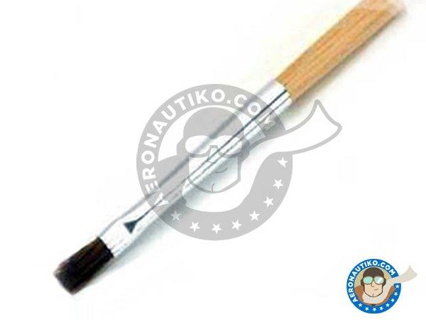 Image 2: Flat Brush No. 1 | Brush manufactured by Tamiya (ref. 87028)