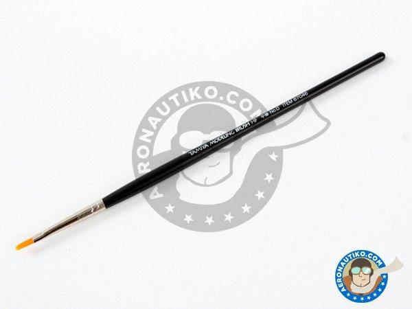 Image 1: High Finish Flat Brush No.0 | Brush manufactured by Tamiya (ref.87046)