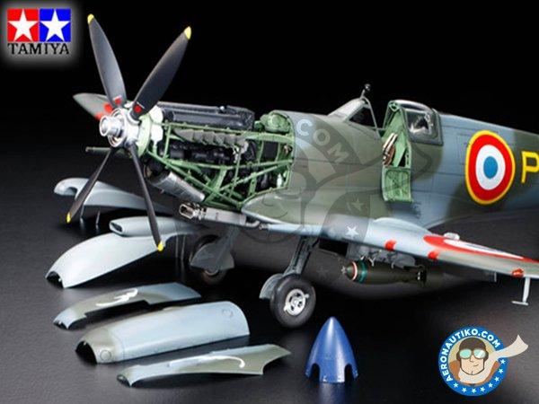 Image 1: Supermarine Spitfire Mk. IX C | Airplane kit in 1/32 scale manufactured by Tamiya (ref.60319)