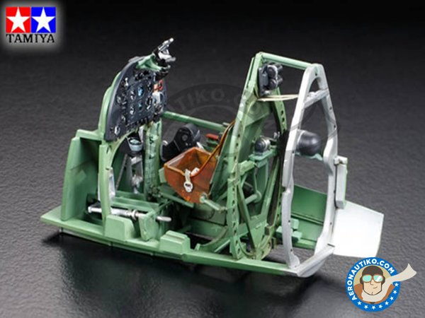 Image 2: Supermarine Spitfire Mk. IX C | Airplane kit in 1/32 scale manufactured by Tamiya (ref.60319)