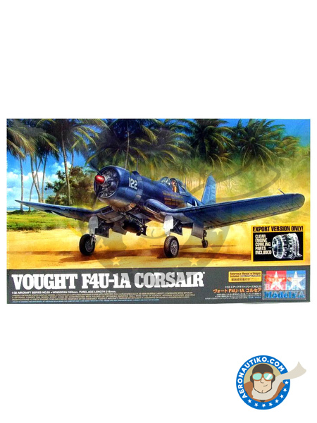 Vought F4U Corsair 1A | Airplane kit in 1/32 scale manufactured by Tamiya (ref.TAM60325) image