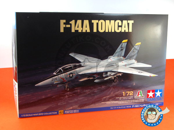 Image 7: Grumman F-14 Tomcat A | Airplane kit in 1/72 scale manufactured by Tamiya (ref. TAM60782)