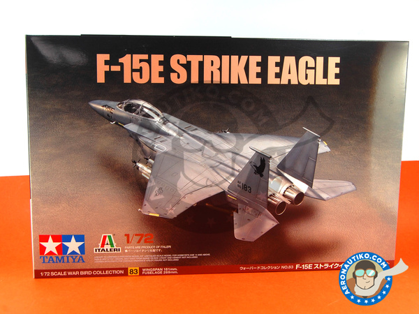 Image 1: McDonnell Douglas F-15 Strike Eagle E | Airplane kit in 1/72 scale manufactured by Tamiya (ref. TAM60783)
